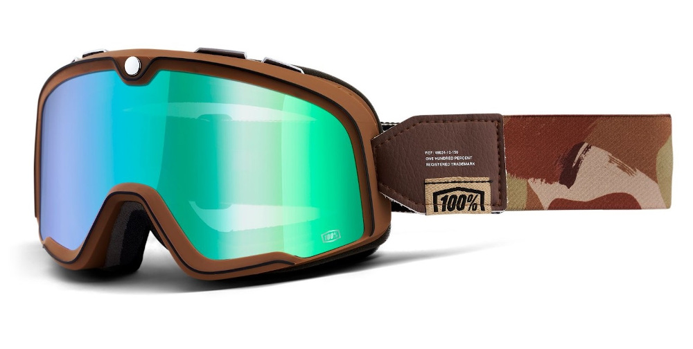 100 Percent Barstow Goggles Pendleton/flash Green Lens