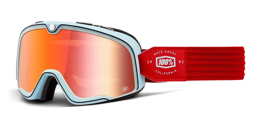 100 Percent Barstow Goggles Carlyle/true Red Lens