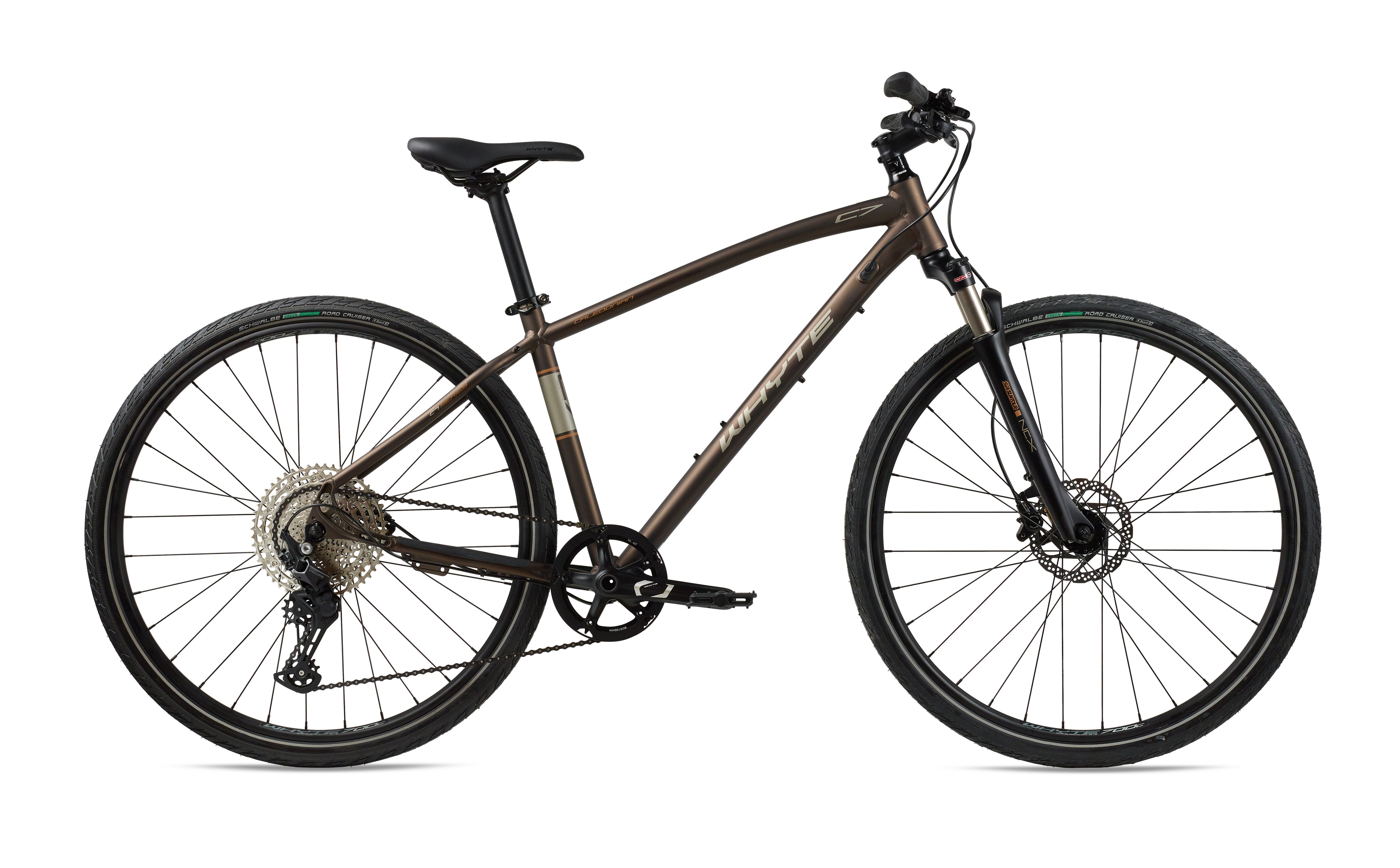 Whyte Caledonian Hybrid Bike 2021 Matt Bronze with Silver/Copper