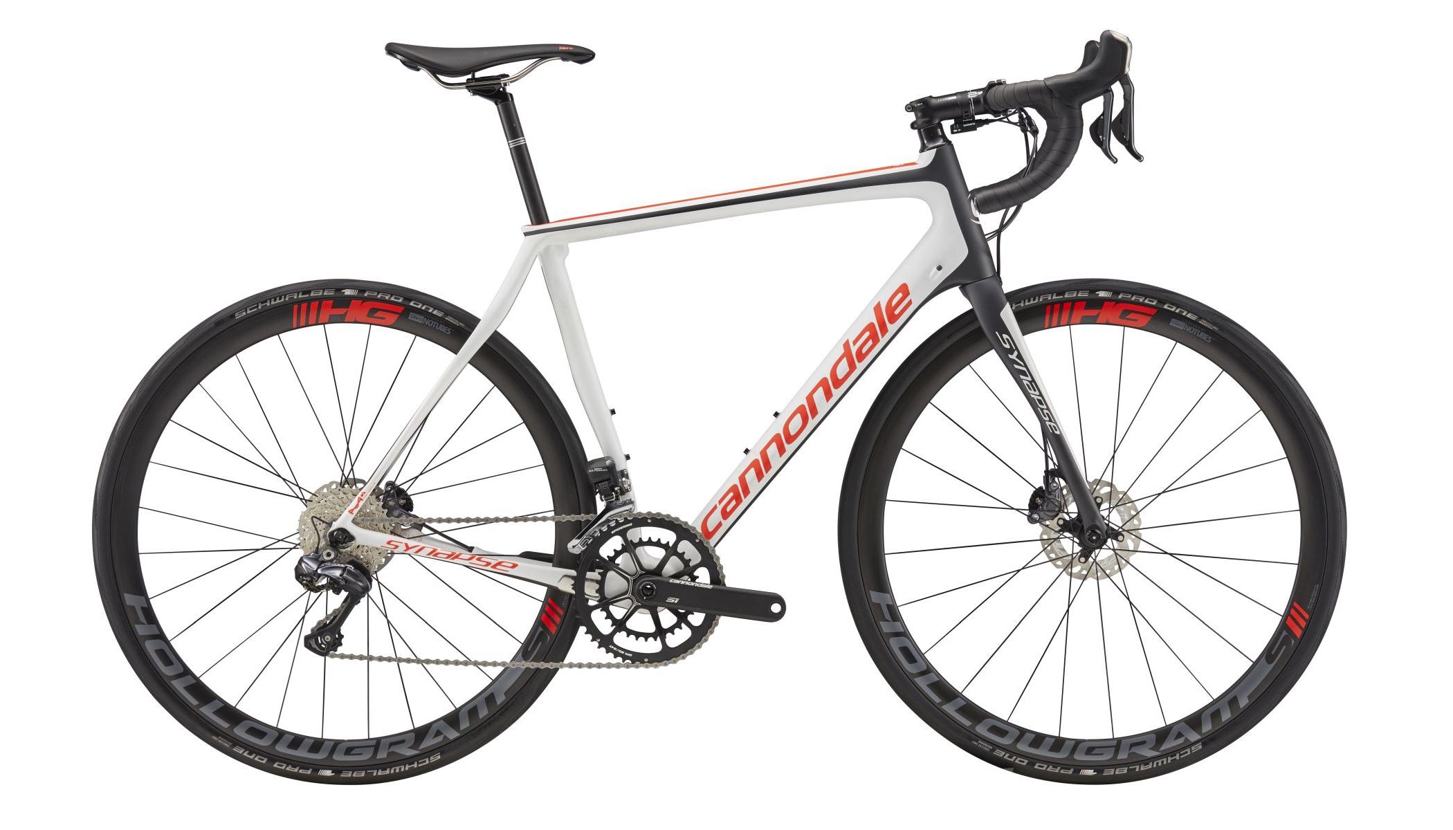1d7316398e8 Cannondale Synapse Hi-Mod Disc Ultegra Di2 Road Bike 2017 Cashmere/Red  £4,699.99