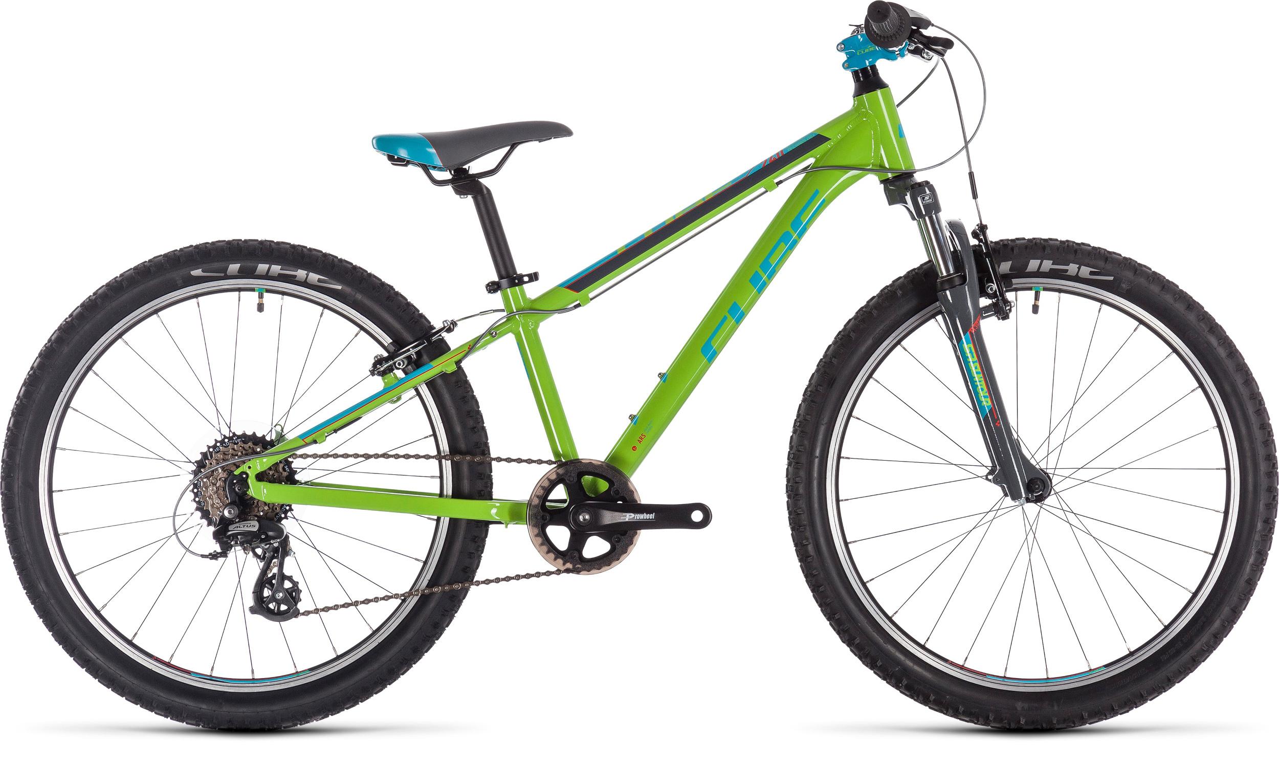 Cube Acid 240 24in Wheel Kids Bike Green/Blue/Grey