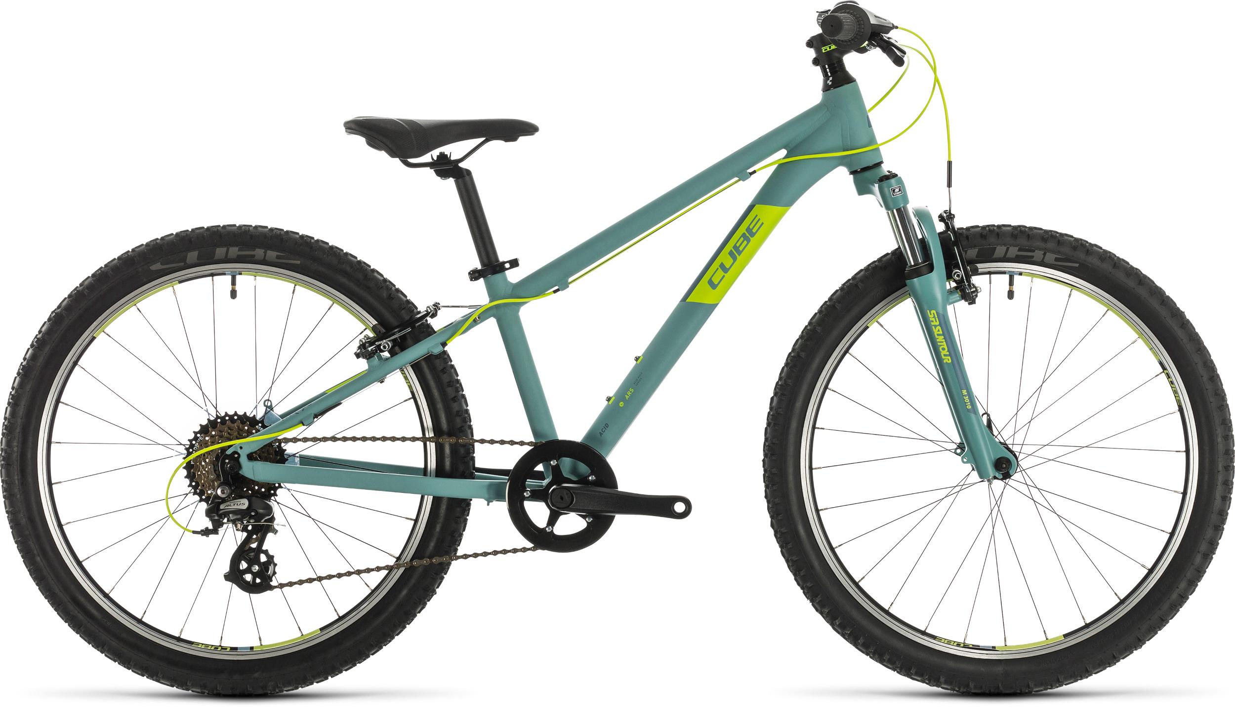 Cube Acid 240 24in Wheel Kids Bike 2020 Green/Lime