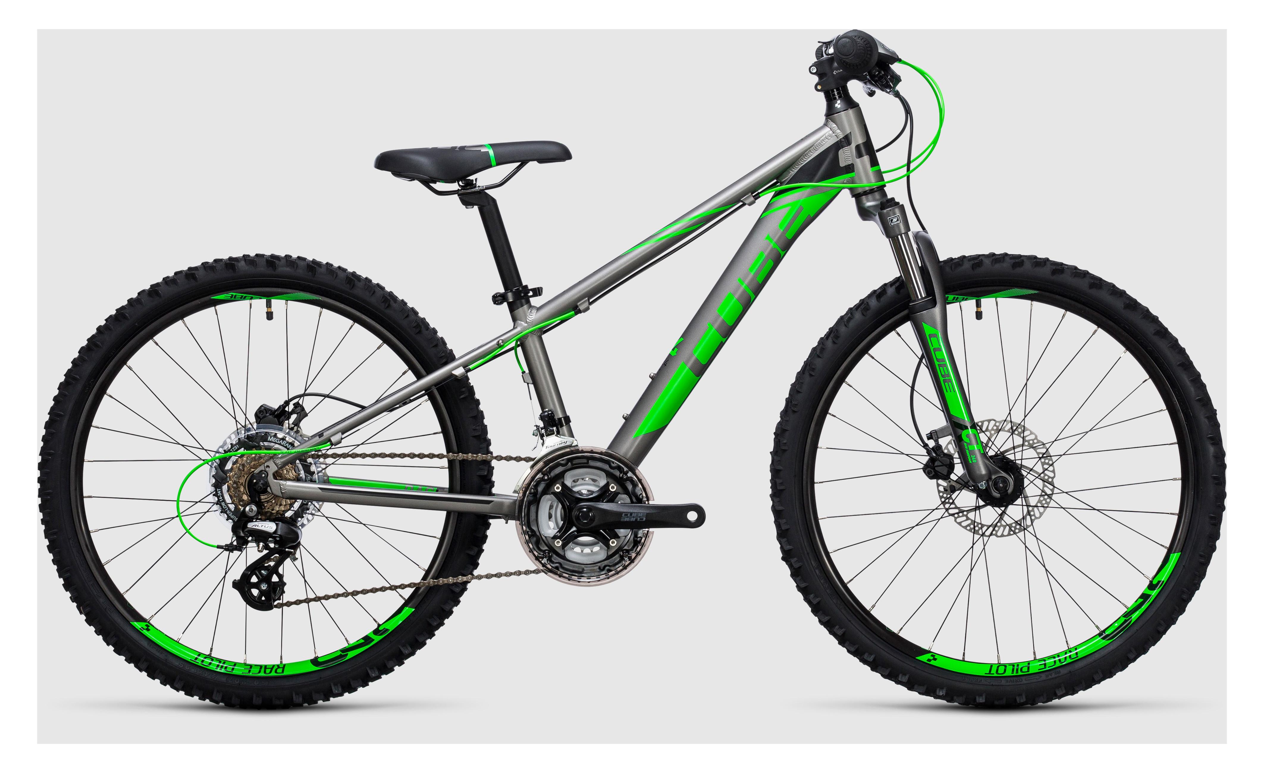 e982d6f5c83 Cube Kid 240 Disc Boys Bike 2017 Grey/Green £358.99