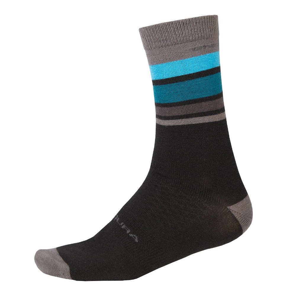 Endura Baabaa Merino Stripe Socks Black