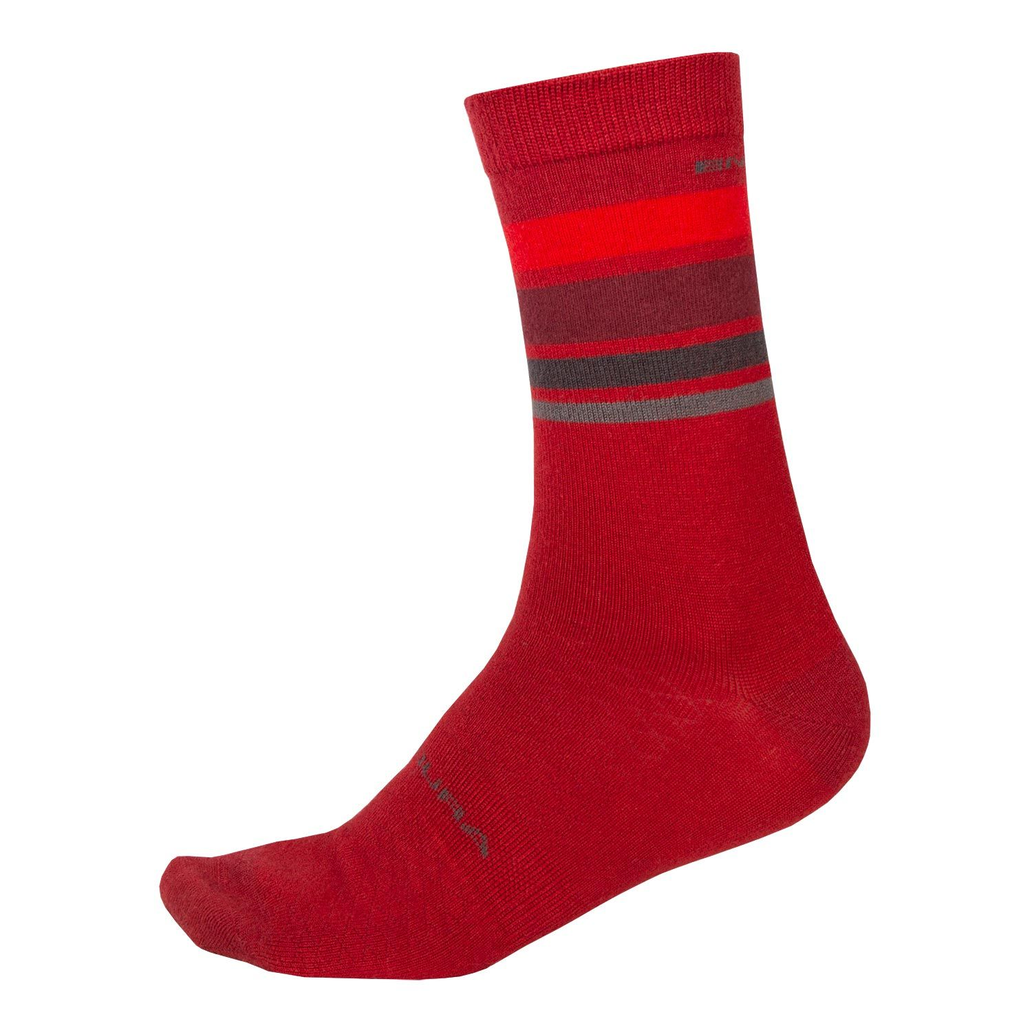 Endura Baabaa Merino Stripe Socks Red