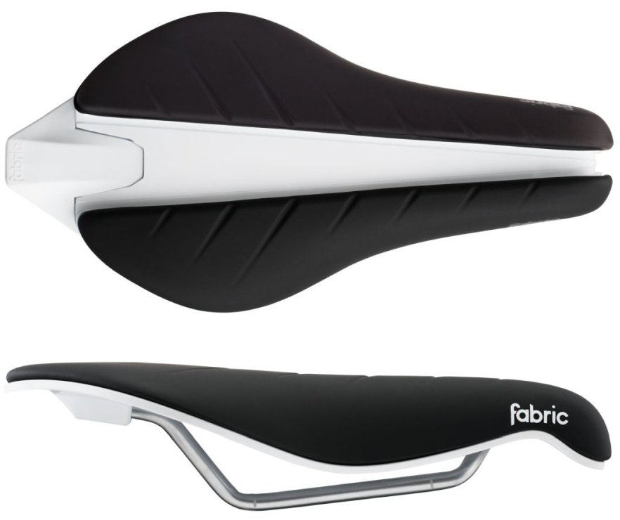 Fabric Tri Flat Elite Saddle 134mm Black/white