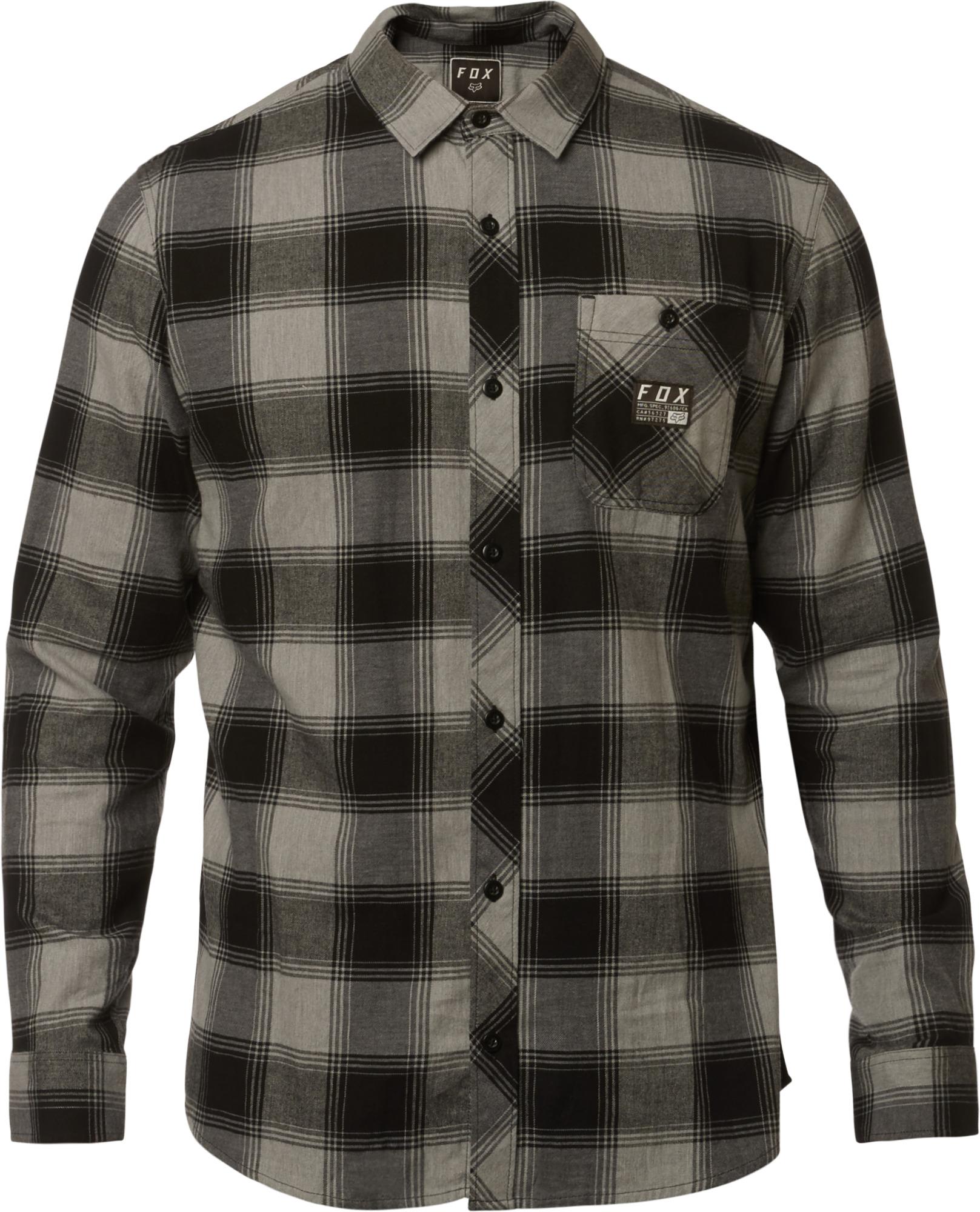 4bef8a9a3 Fox Longview Lightweight LS Flannel Shirt Heather Graphite