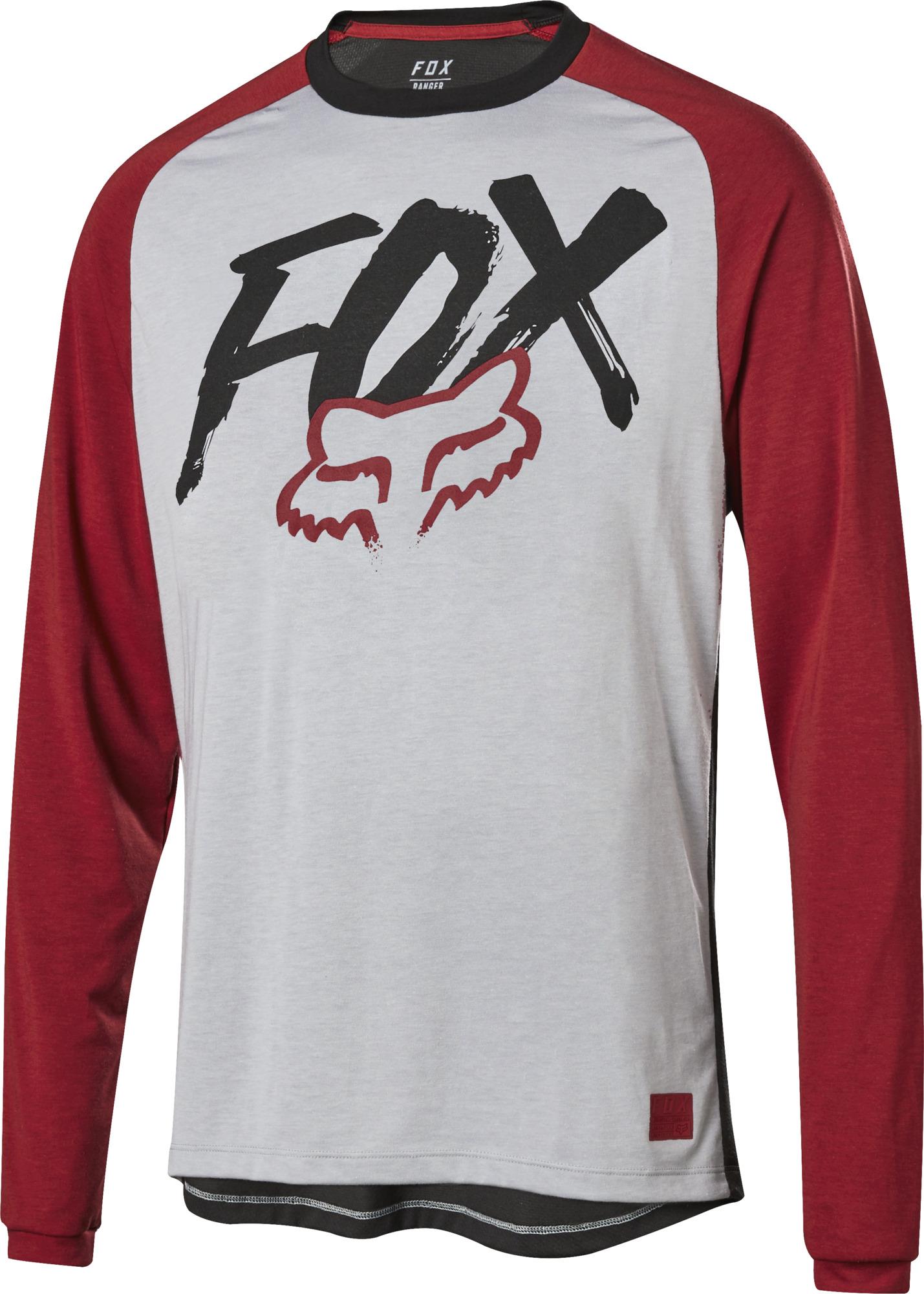 FOX Ranger LS Jersey Long Sleeve Mountain Bike MTB Trail Bicycle Racing Mens Top