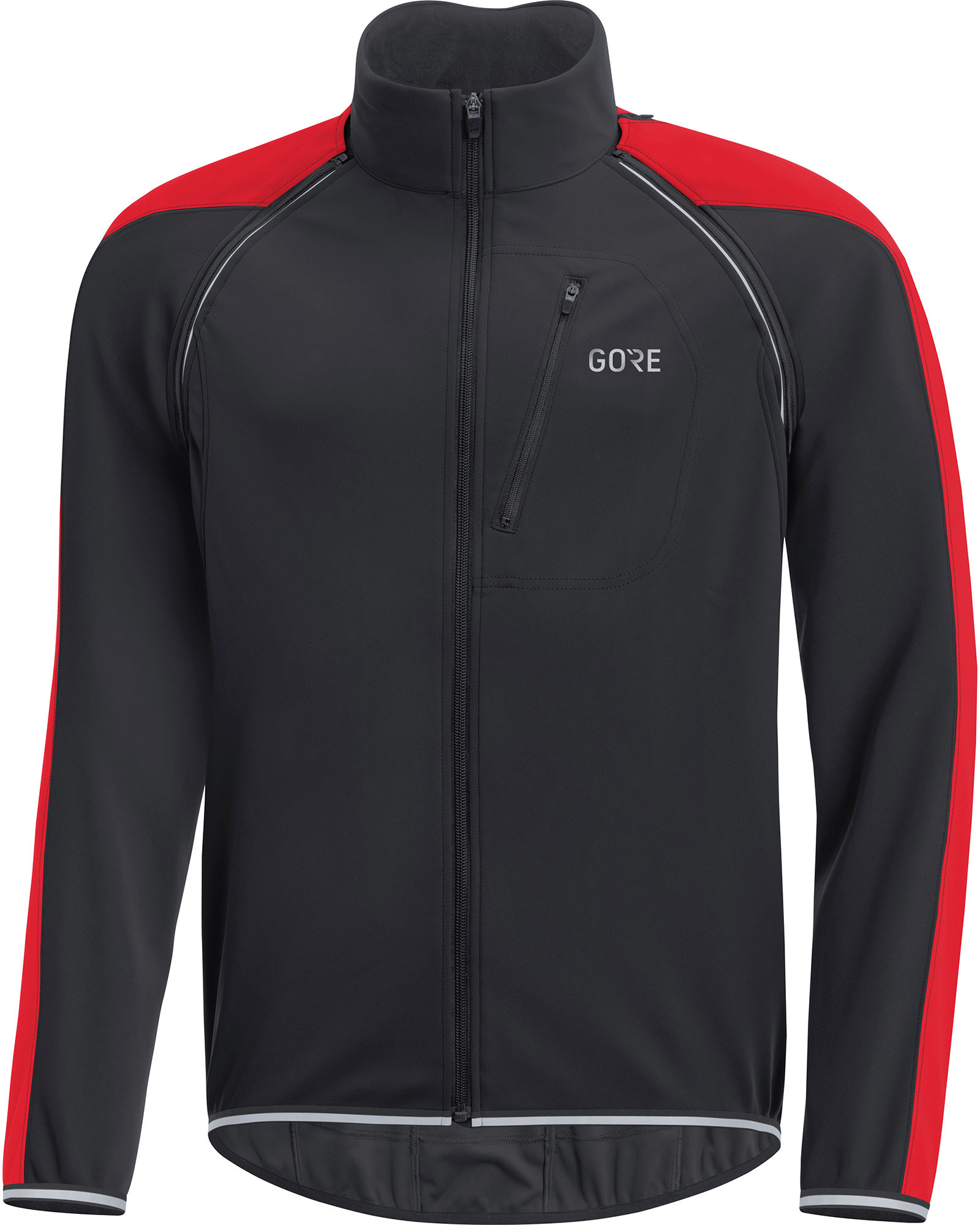 Gore C3 Windstopper Phantom Zip-off Jacket Black/red
