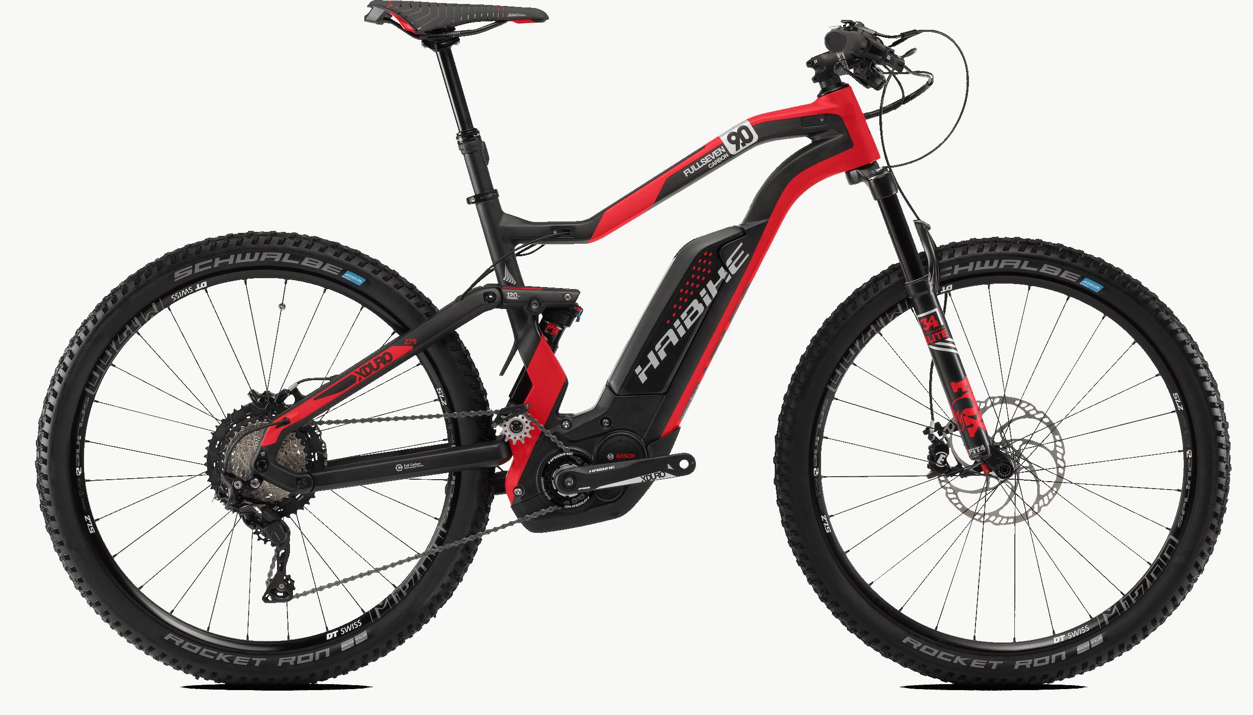 Haibike Xduro Fullseven Carbon 9 0 27 5 Electric Bike 2018 Red