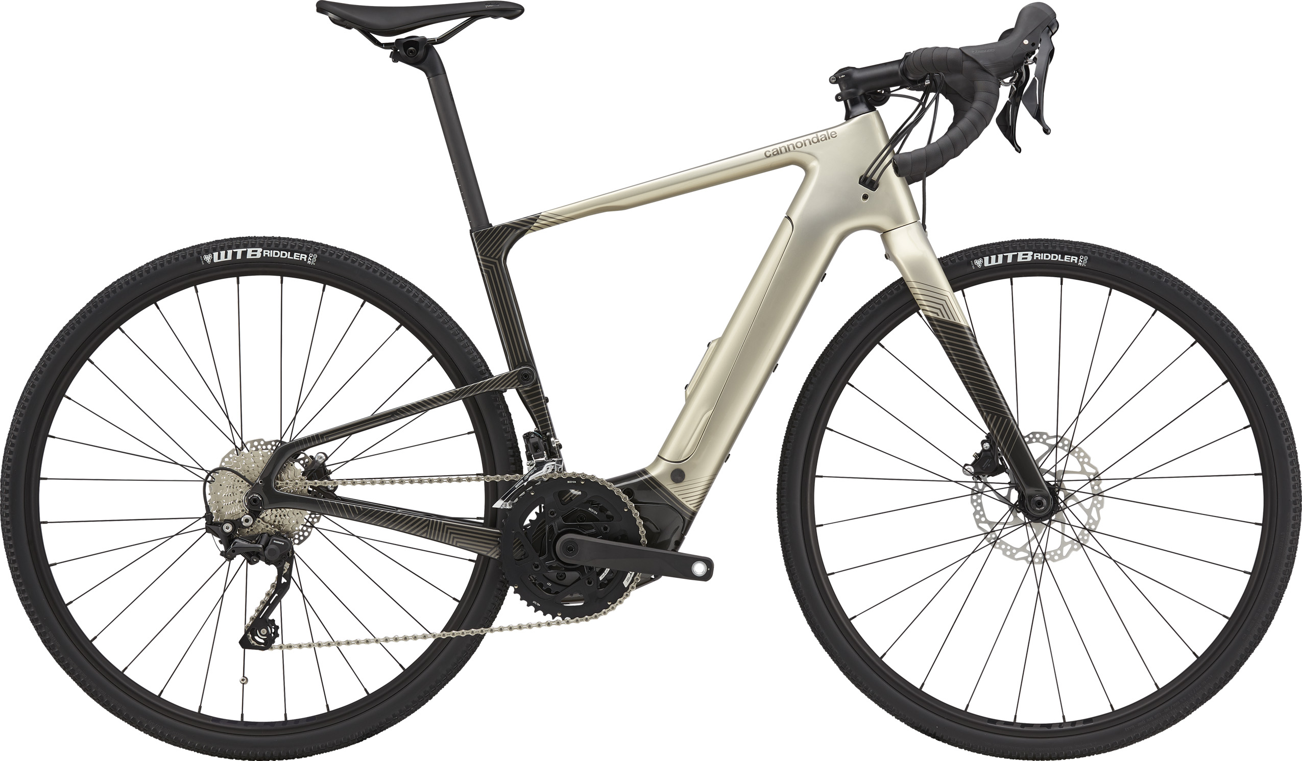 Cannondale Topstone Neo Carbon 4 Lefty Electric Bike 2021 Champagne