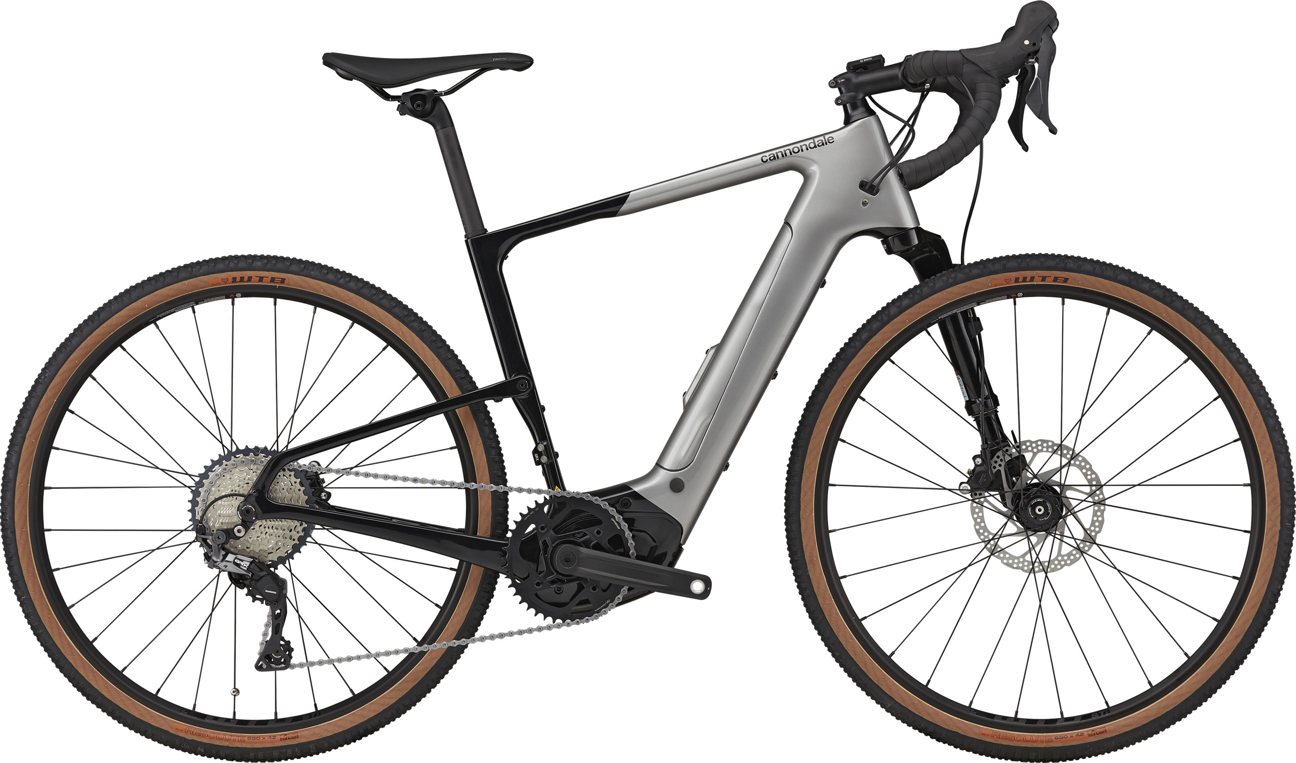 Cannondale Topstone Neo Carbon 3 Lefty Electric Bike 2021 Grey