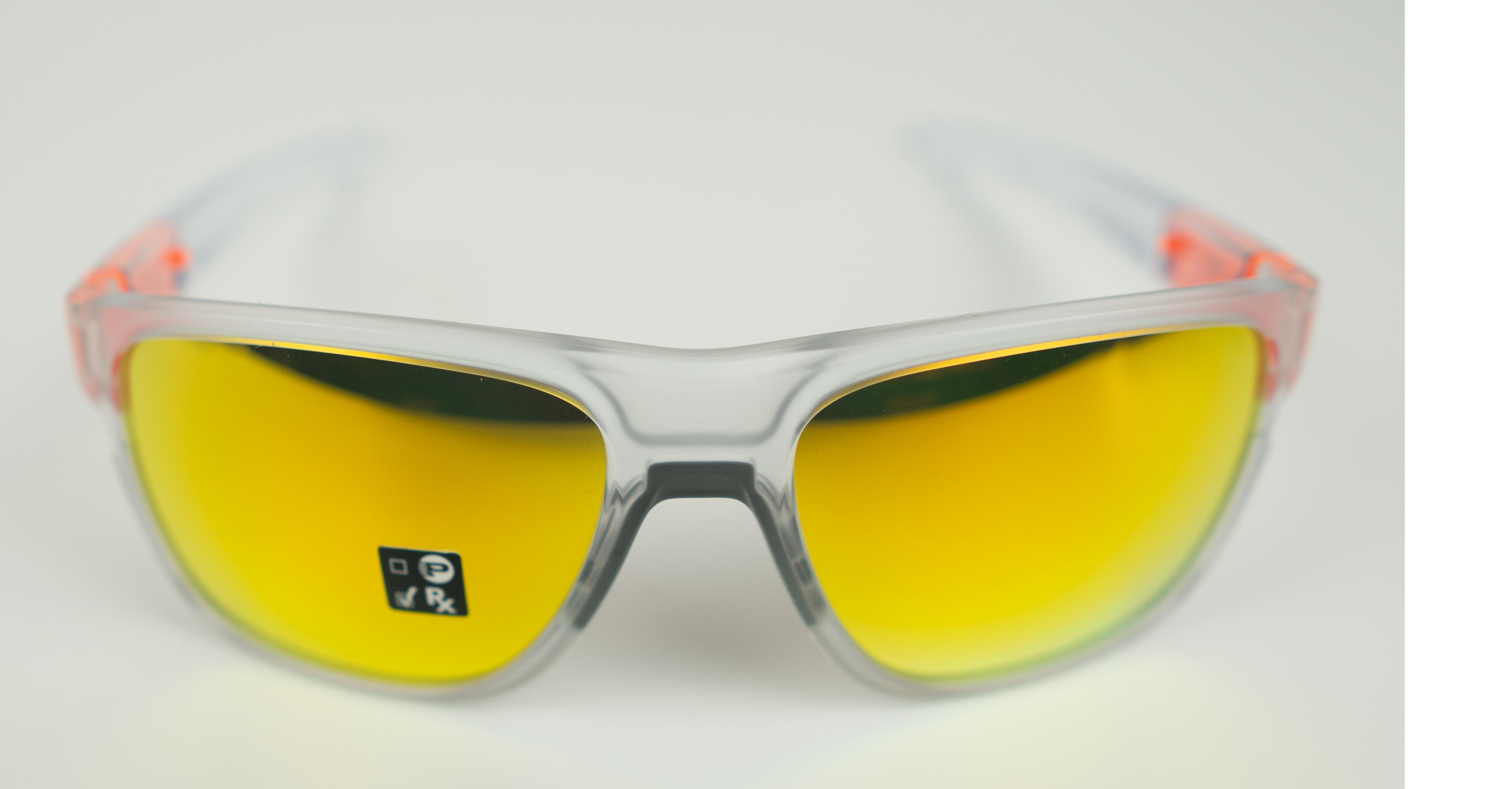 Oakley Crossrange XL Sunglasses Crystal Pop Fire Iridium | cykelbrille