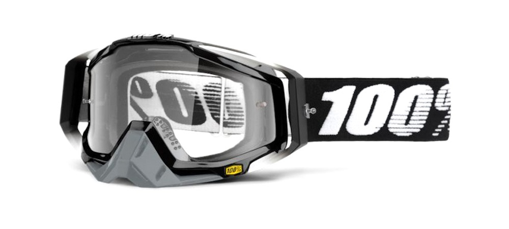 100 Percent Racecraft Goggles Abyss Black/clear Lens