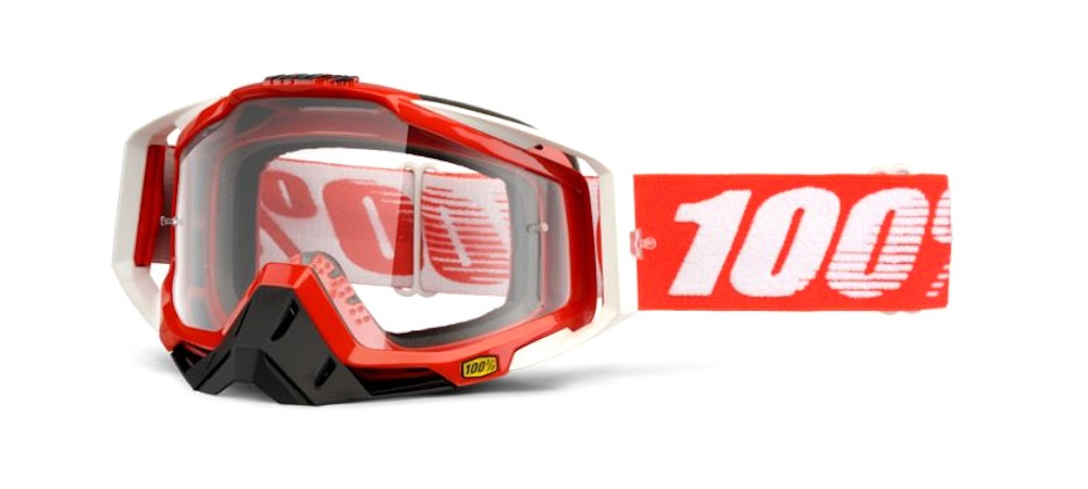 100 Percent Racecraft Goggles Fire Red/clear Lens