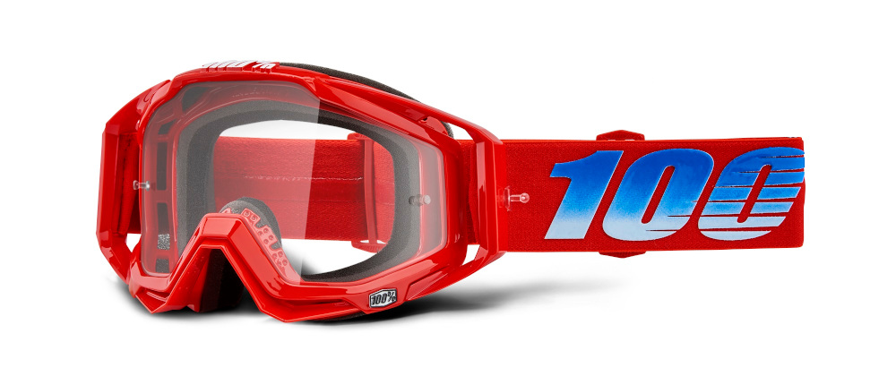 100 Percent Racecraft Goggles Poliet/red Mirrored Lens