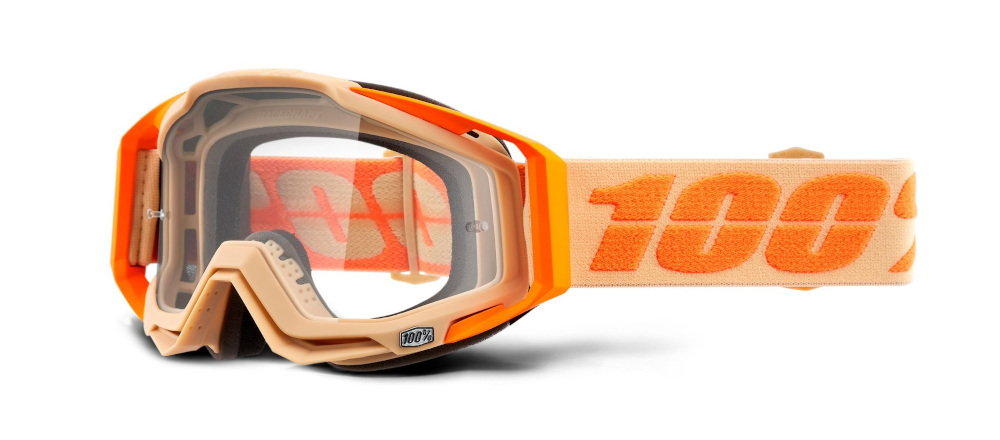 100 Percent Racecraft Goggles Sahara/clear Lens