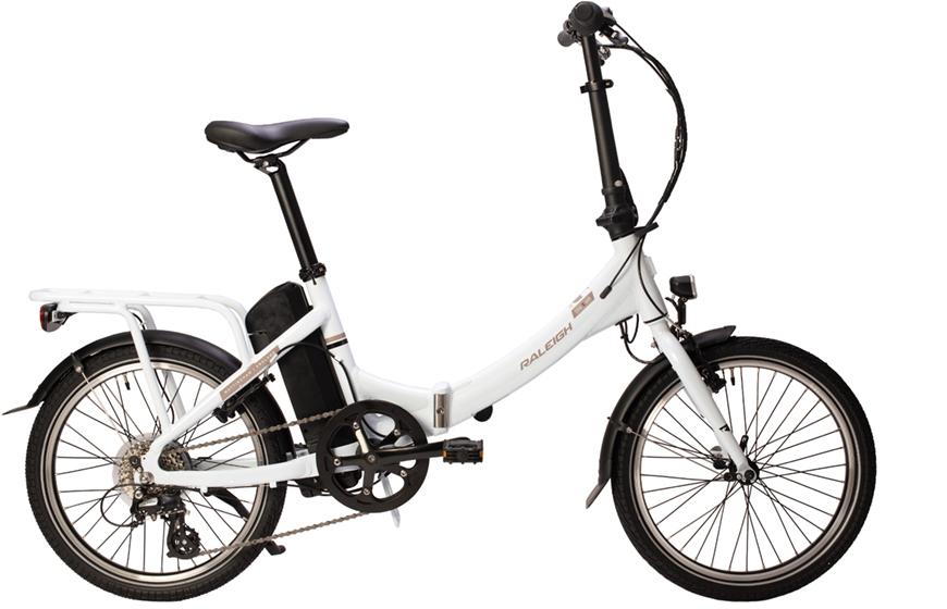 Raleigh Stoweway 20 inch Elecrtric Bike 2019 White   foldecykel