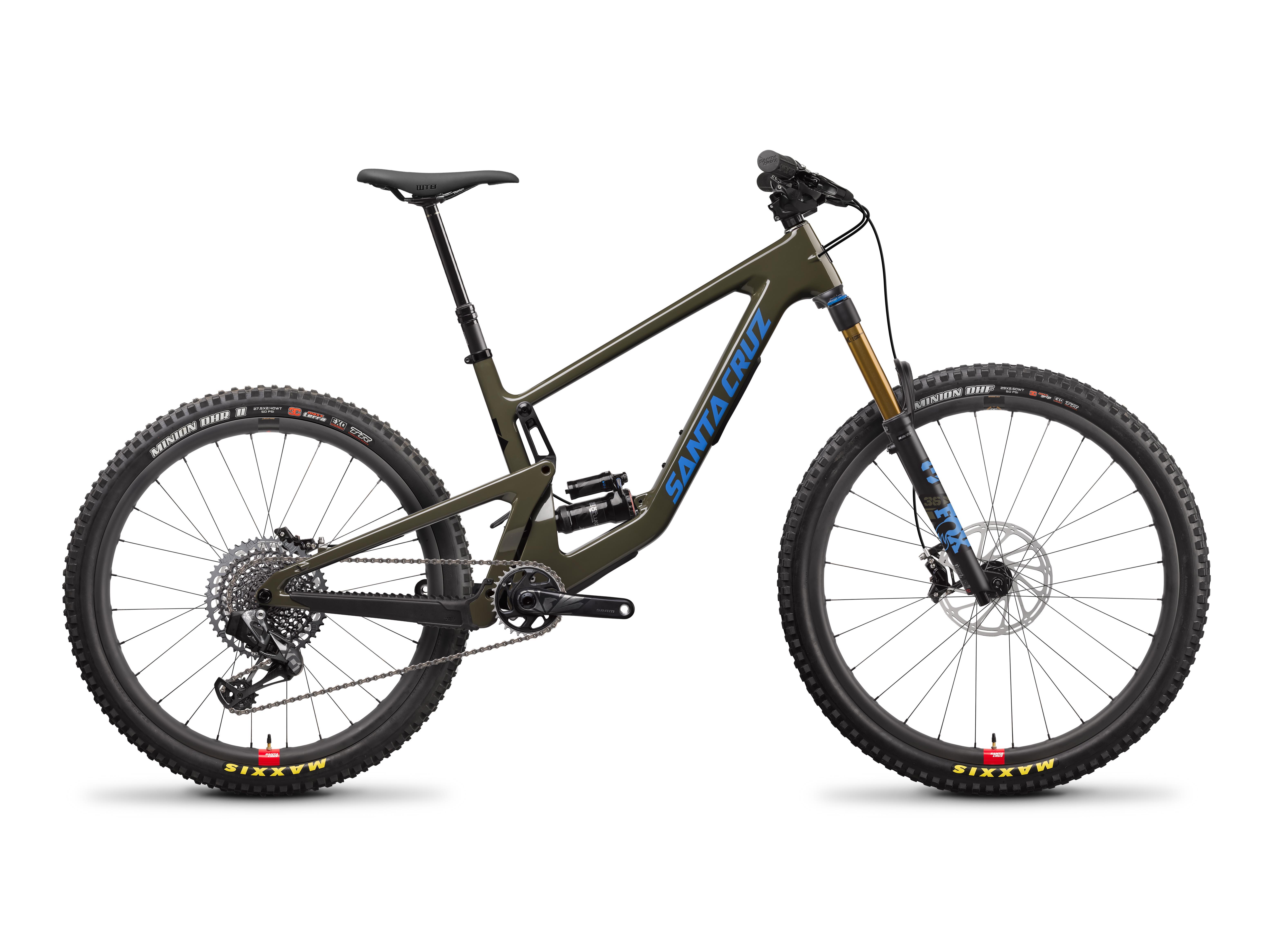 Image of Santa Cruz Bronson CC X01 AXS Reserve MX Mountain Bike 2022 Moss Green