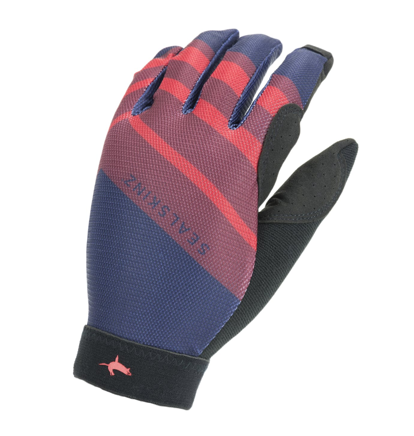 Sealskinz Solo Super Thin Mtb Gloves Navy Blue/red/black