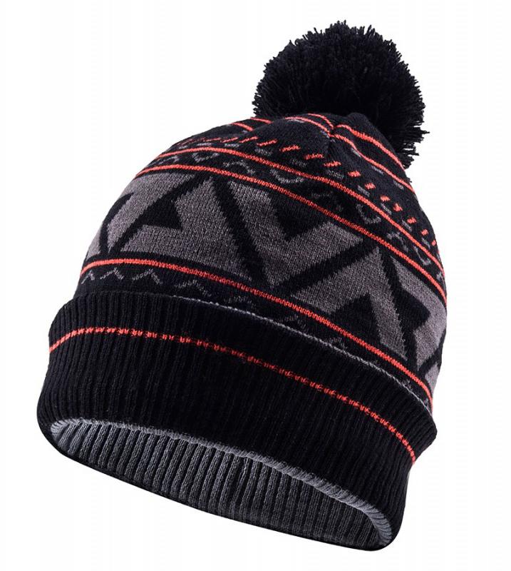 dbc9faa6b SealSkinz Waterproof Bobble Hat Black/Grey/Red