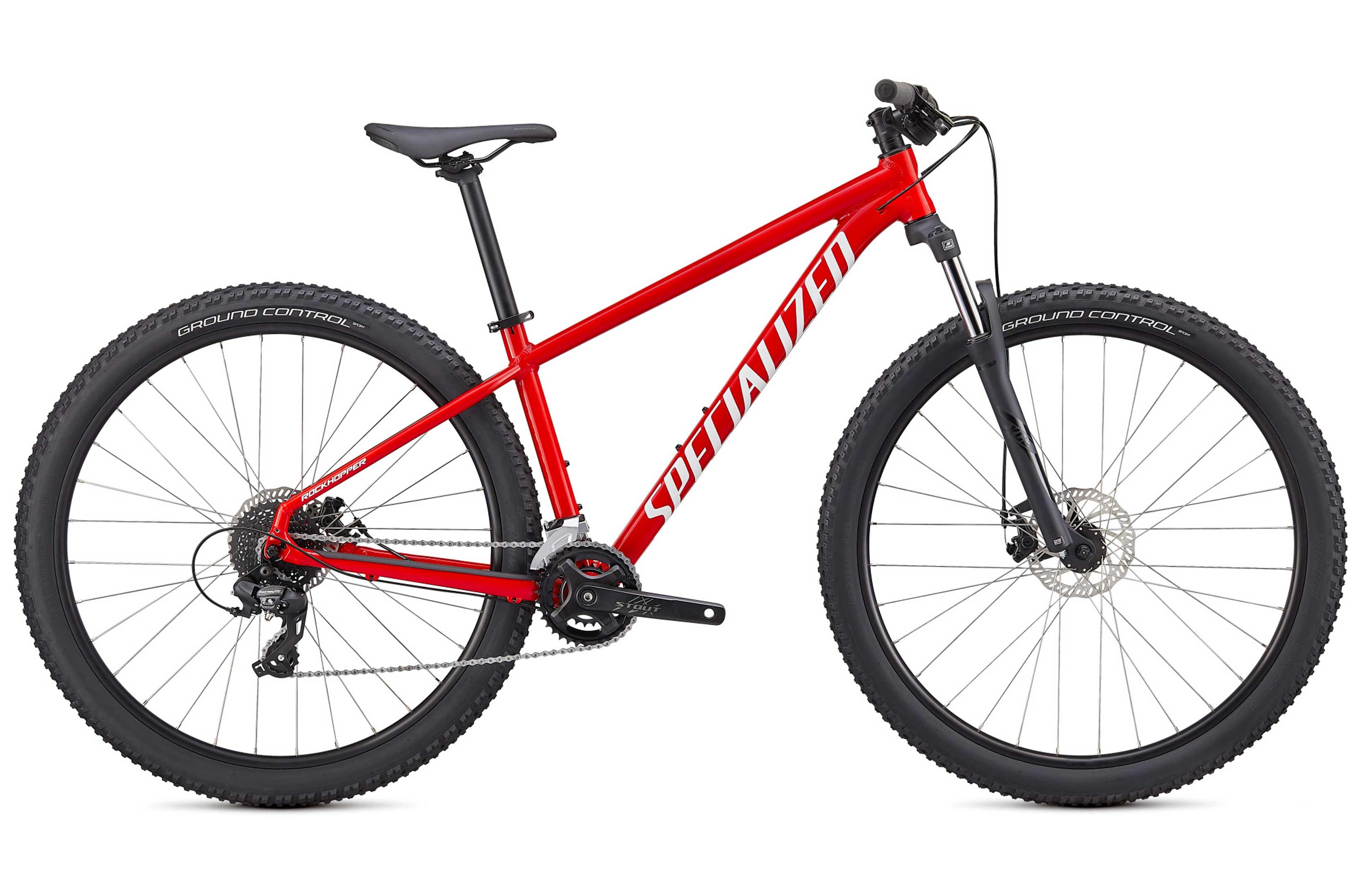 Specialized Rockhopper 27.5 Hardtail Mountain Bike 2021 Flo Red/White