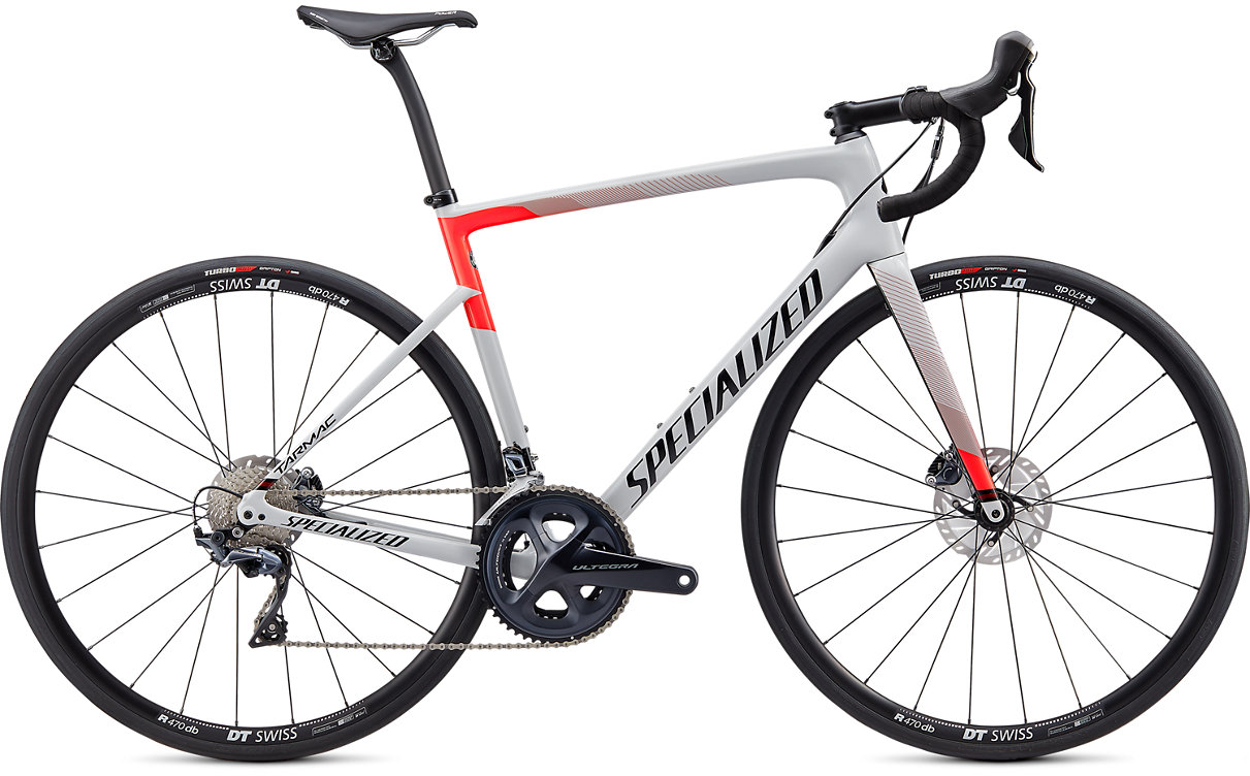 Specialized Tarmac SL6 Comp Disc Road Bike 2020 Dove Grey/Rocket red