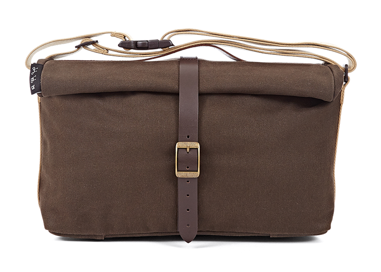 Brompton Roll Top Bag And Frame Khaki Waxed Canvas
