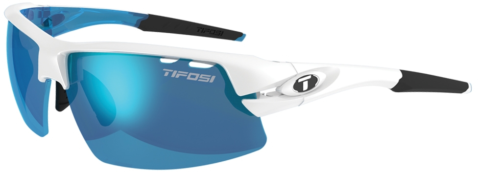 Tifosi Crit Half Frame Sunglasses With Interchangeable Lens White