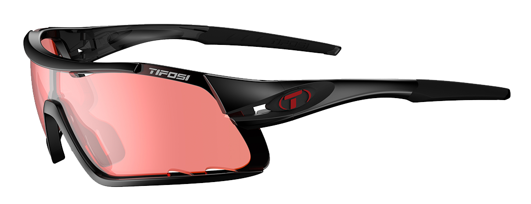 Tifosi Davos Enliven Bike Sunglasses Crystal Black/enliven Red