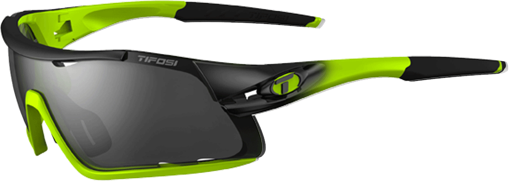 Tifosi Davos Interchangeable Clarion Lens Sunglasses Neon Green
