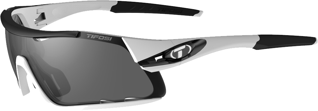 Tifosi Davos Interchangeable Clarion Lens Sunglasses White/black
