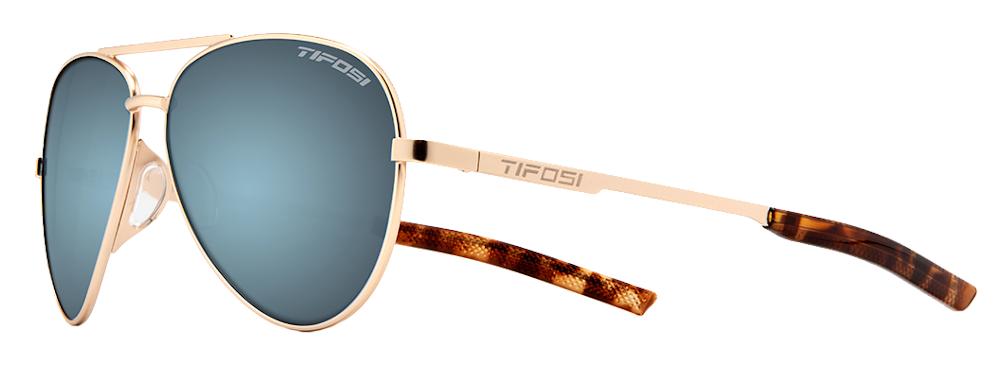 Tifosi Shwae Sunglasses Gold/smoke/bright Blue