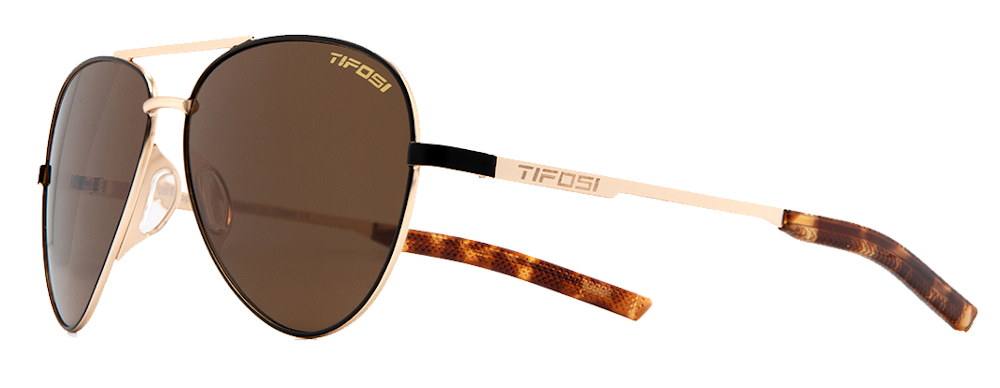 Tifosi Shwae Sunglasses Midnight Gold/brown