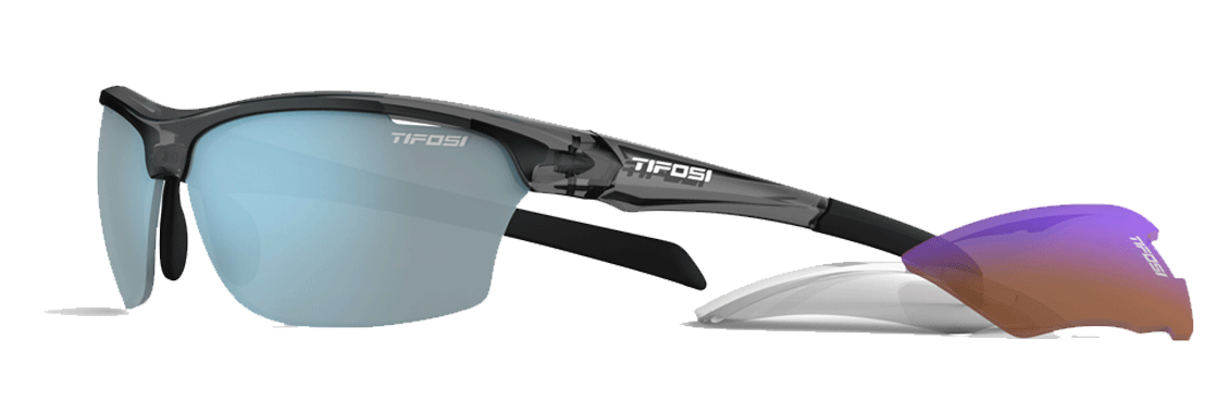 Tifosi Intense Interchangeable Sunglasses Crystal Smoke