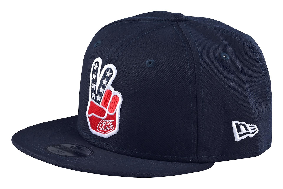 Troy Lee Designs Peace Sign Snapback Cap Navy
