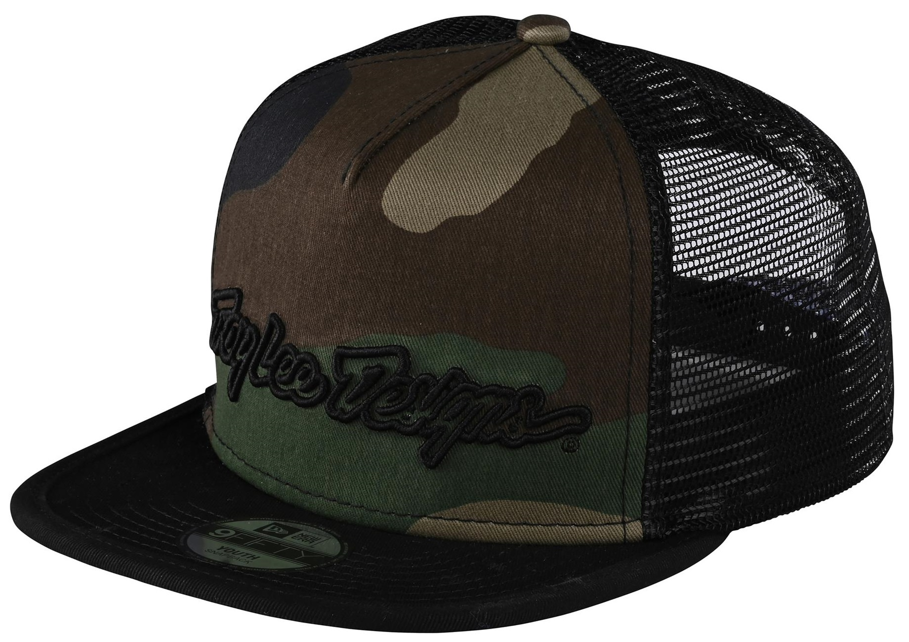 Troy Lee Designs Signature Youth Snapback Cap Army Camo Green