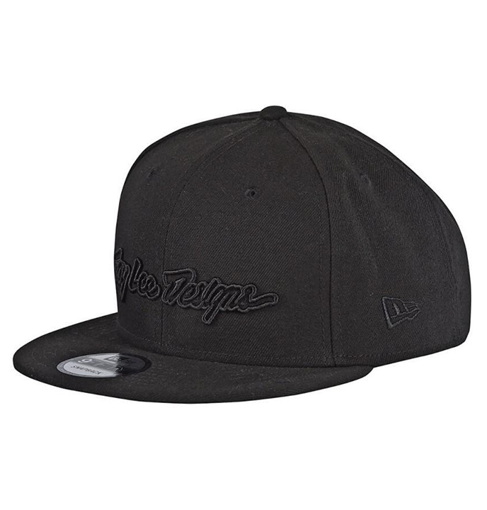 Troy Lee Designs Classic Signature Snapback Black Youth