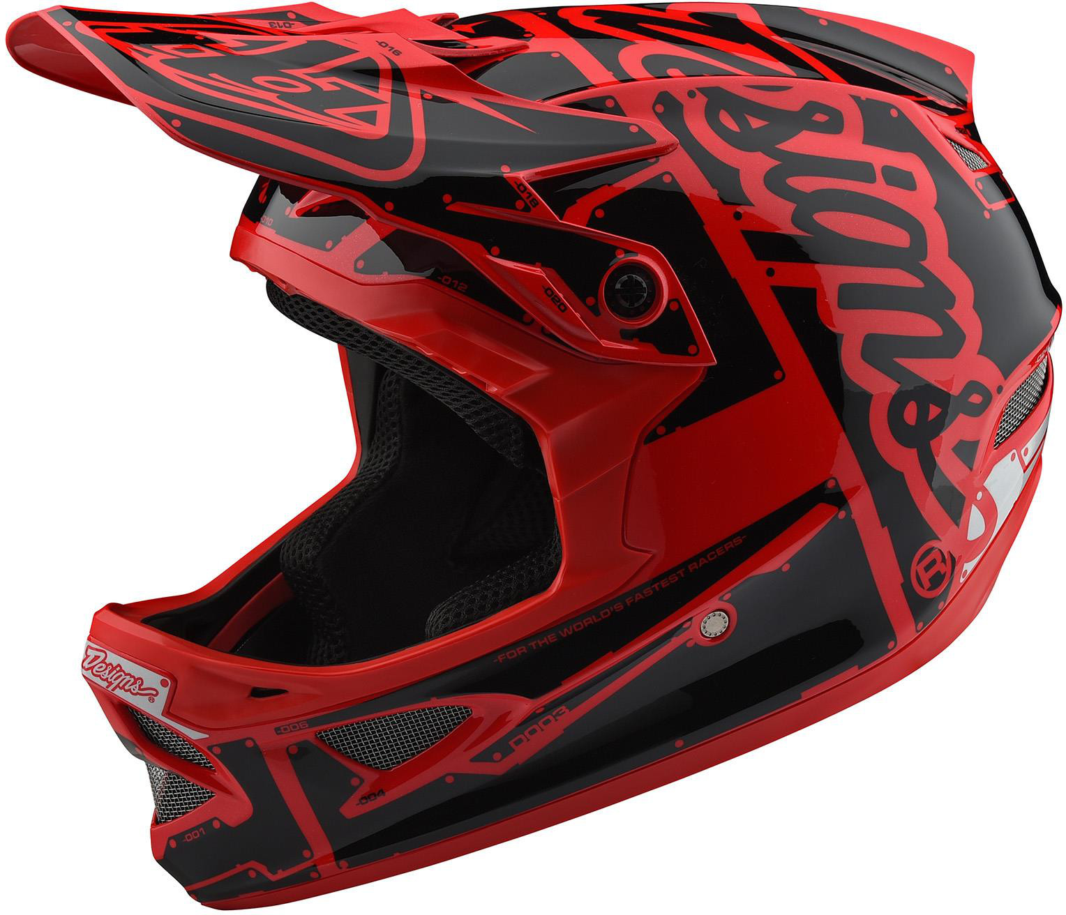 Troy Lee Designs D3 Fiberlite Full Face Helmet Factory Red
