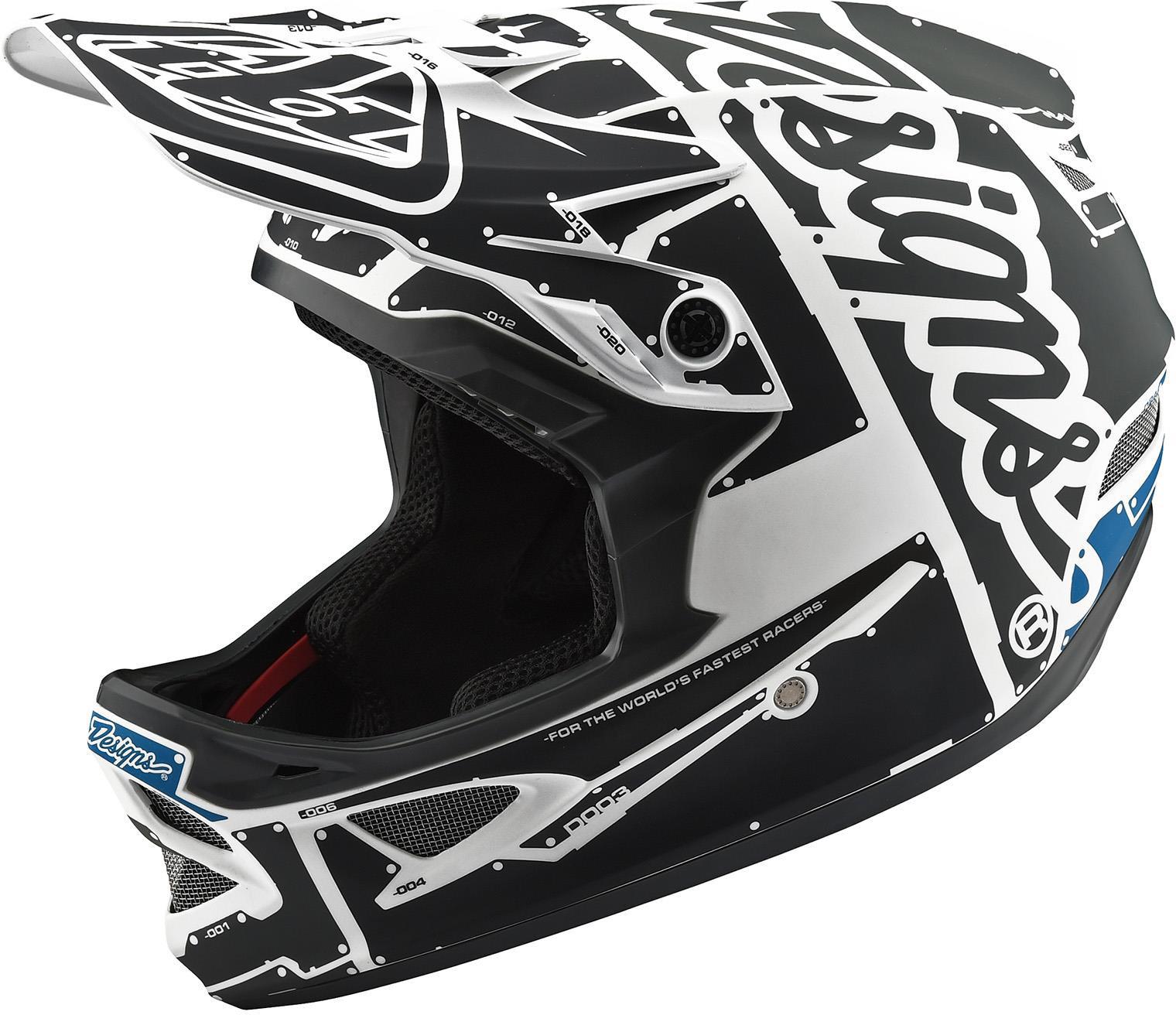Troy Lee Designs D3 Fiberlite Full Face Helmet Factory White/Grey