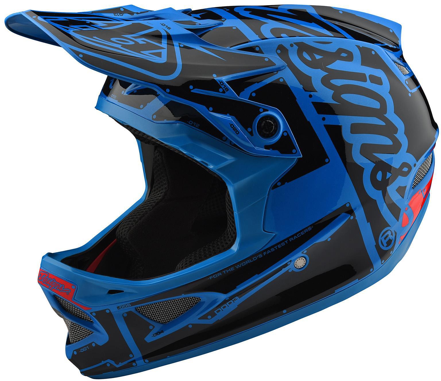 Troy Lee Designs D3 Fiberlite Full Face Helmet Factory Ocean