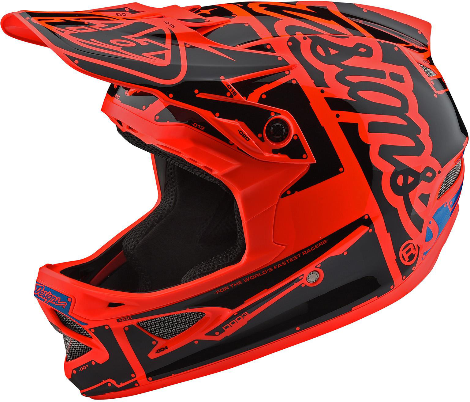 Troy Lee Designs D3 Fiberlite Full Face Helmet Factory Orange