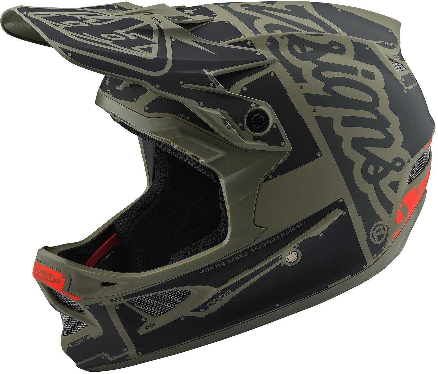 Troy Lee Designs D3 Fiberlite Full Face Helmet Factory Trooper