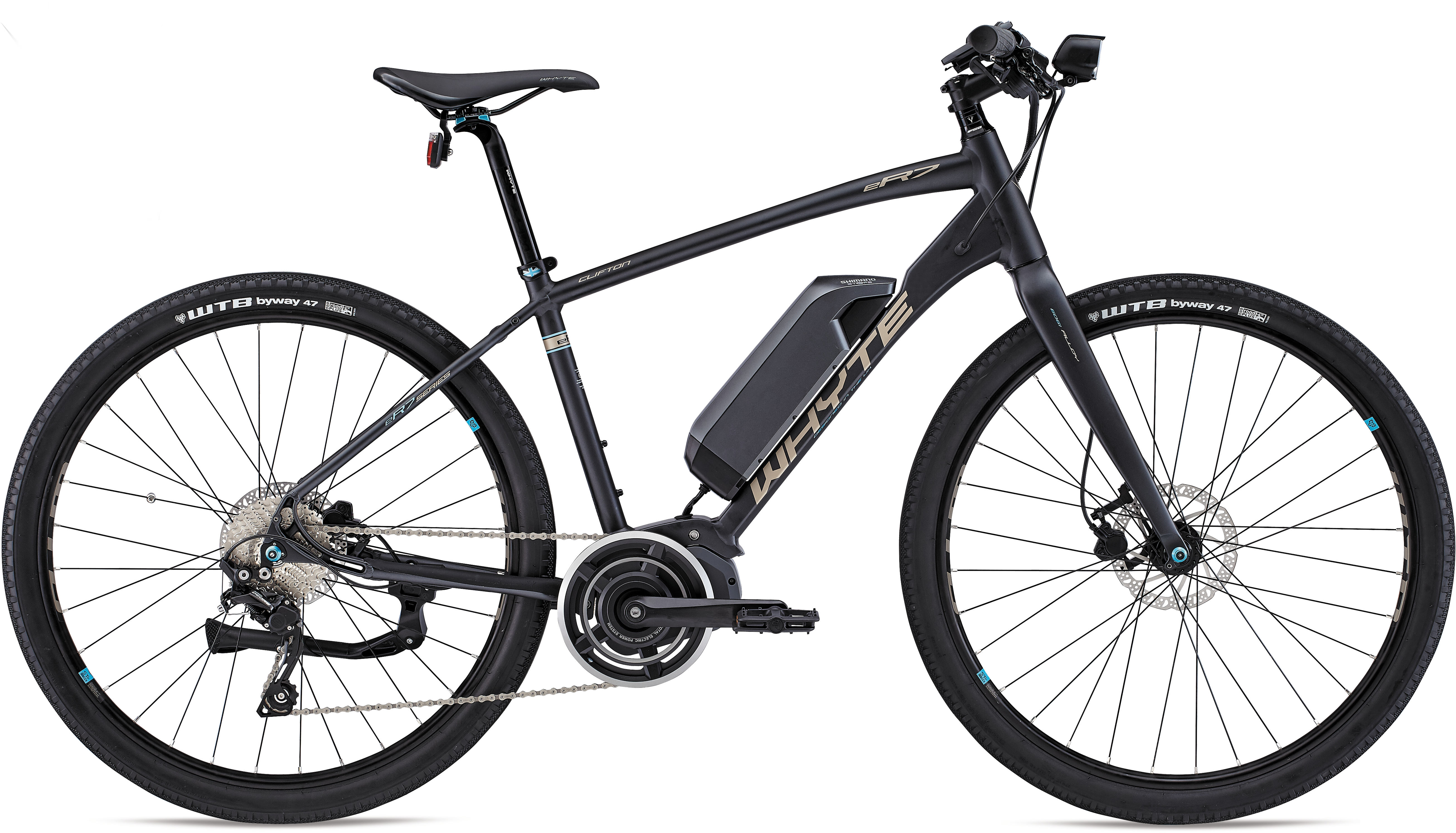 Whyte Clifton Electric Bike 2021 Grey/Bronze/Blue