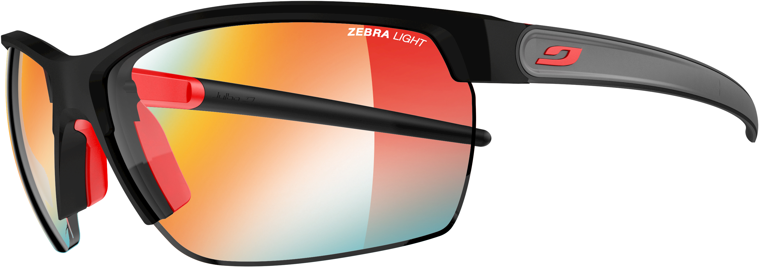 Julbo Zephyr Zebra Light Fire Lens Sunglasses Black/red